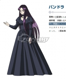 Saint Seiya Pandora Black Dress Cosplay Costume
