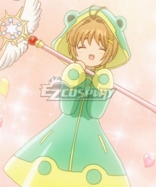 Cardcaptor Sakura: Clear Card Sakura Kinomoto Frog Battle Suit Cosplay Costume