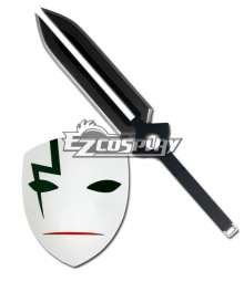 Darker than Black Li Shenshun Black BK-201 Hei's Mask & Sword Cosplay Accessories Weapon Prop - Deluxe Edition