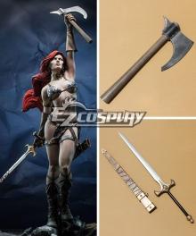 Red Sonja Sonja Sword Hatchet Cosplay Weapon