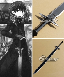 Sword Art Online Notre Dame Chant Articles SAO Kirigaya Kazuto Kirito Black Swords Cosplay Weapon