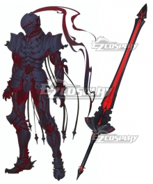 Fate/Zero Lancelot Berserker Red Sword Cosplay Weapon