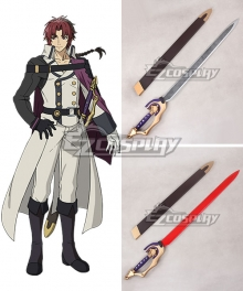 Seraph of the End Vampire Reign Owari no Serafu Crowley Eusford Sword Cosplay Prop