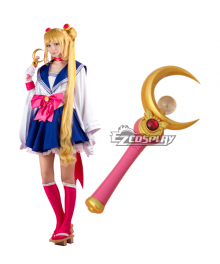 Sailor Moon Tsukino Usagi Princess Serenity JK School Uniforms kimono Anime Style Magic Wand Cosplay Accessory