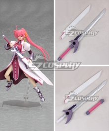Magical Girl Lyrical Nanoha Signum Flames Maken Sword Cosplay Weapon Prop