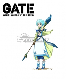 Gate Jieitai Kanochi nite Kaku Tatakaeri Gate Thus the JSDF Fought There Lelei la Lelena Staves Cosplay Weapon Prop
