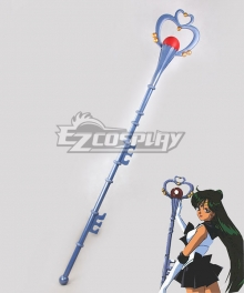 Sailor Moon Meiou Setsuna Sailor Pluto Blue Staves Cosplay Weapon Prop