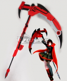 RWBY Leader of Team RWBY Ruby Rose High Caliber Sniper Scythe HCSS Crescent Rose B Cosplay Weapon Prop