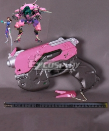 Overwatch OW D.Va DVa Hana Song Gun Pink Cosplay Weapon Prop