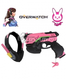 Overwatch OW D.Va DVa Hana Song Gun Headset Cosplay Weapon Prop