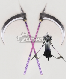 Devil Kings Sanguko Basara 4 Tenkai Mitsuhide Akechi Two Scythes Cosplay Weapon Prop