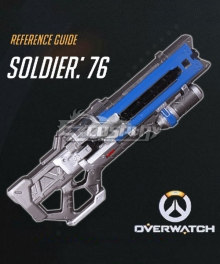 Overwatch OW Soldier 76 John Jack Morrison Gun Cosplay Weapon Prop - A Edition