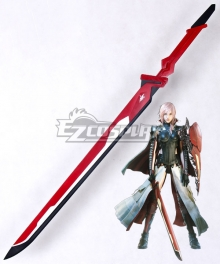 Final Fantasy XIII Lightning Returns Equilibrium Lightning Eclair Farron Sword Cosplay Weapon Prop - B Edition