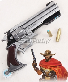 Overwatch OW Jesse McCree Gun Bullet Gun Cosplay Weapon Prop