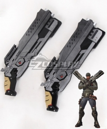 Overwatch OW Reaper Gabriel Reyes Blackwatch Two Guns Cosplay Weapon Prop