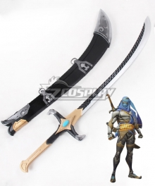 Overwatch OW Genji Shimada Bedouin Long sword Cosplay Weapon Prop