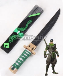 Overwatch OW Genji Shimada Sparrow Short sword Cosplay Weapon Prop