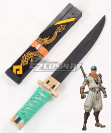 Overwatch OW Genji Shimada Young Short sword Cosplay Weapon Prop