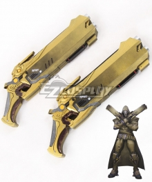 Overwatch OW Reaper Gabriel Reyes Desert Two Guns Cosplay Weapon Prop