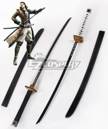 Devil Kings Sengoku Basara 4 Sumeragi Katakura Kojuro Two Sword Cosplay Weapon Prop