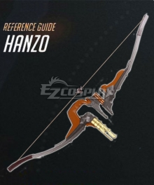 Overwatch OW Hanzo Shimada Young Hanzo Bow Cosplay Weapon Prop