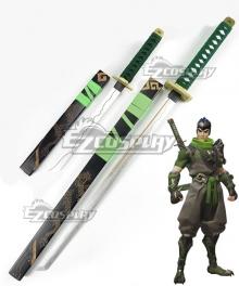 Overwatch OW Genji Shimada Sparrow Two Swords Cosplay Weapon Prop