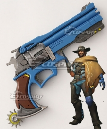 Overwatch OW Jesse McCree On The Range Gun Cosplay Weapon Prop