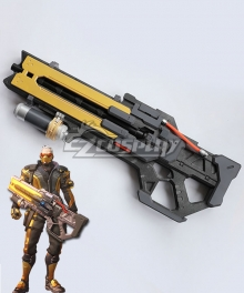 Overwatch OW Soldier 76 John Jack Morrison Golden Gun Cosplay Weapon Prop