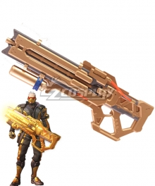 Overwatch OW Soldier 76 John Jack Morrison Golden Heavy Pulse Rifle Gun Cosplay Weapon Prop