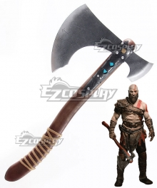 God of War 4 Kratos Axe Cosplay Weapon Prop