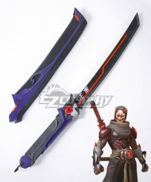 Overwatch OW Genji Shimada Oni Short sword Cosplay Weapon Prop