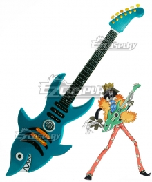 One Piece Brook Shark Guitar Cosplay Weapon Prop