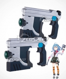 Gakusen Toshi Asterisk Academy Battle City Asterisk The Asterisk War The Academy City of the Water Saya Sasamiya Two Guns Cosplay Weapon Prop
