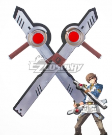The Legend of Heroes Lloyd Bannings Two Tonfaas Cosplay Weapon Prop