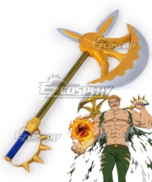 The Seven Deadly Sins Nanatsu No Taizai Lion's Sin of Pride Escanor Axe Cosplay Weapon Prop