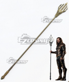 DC Comics 2018 Movie Aquaman Arthur Curry Trident Cosplay Weapon Prop
