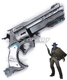 Overwatch OW Jesse McCree Mystery Man Gun Gear Rotatable Cosplay Weapon Prop