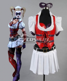 DC Comics Batman Arkham Asylum City Harley Quinn Cosplay Costume - B Edition