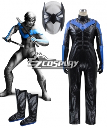 DC Comics Batman Arkham City Nightwing Cosplay Costume