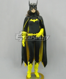 DC Comics Batwoman Batman Batgirl Cosplay Costume Black Cloak Version