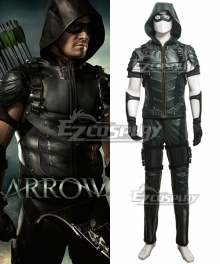 DC Comics Green Arrow Season 4 Oliver Queen Arrow Cosplay Costume - Updated Version