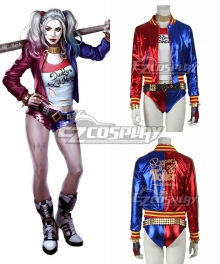 DC Detective Comics Batman Suicide Squad Task Force X Harley Quinn 2016 Movie Cosplay Costume
