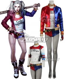 DC Detective Comics Batman Suicide Squad Task Force X Harley Quinn 2016 Movie Cosplay Costume - Deluxe Version
