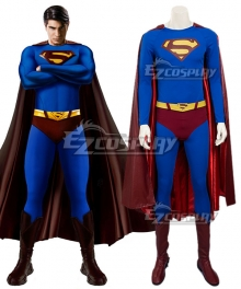 DC Superman Returns Superman Kal-El Clark Kent Cosplay Costume - Including Boots