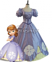 Disney Princess Sofia Sofia Dress Cosplay Costume