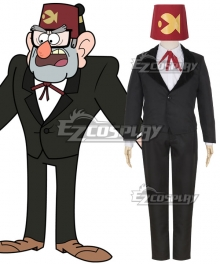 Disney Gravity Falls Stanley Grunkle Stan Pines Cosplay Costume