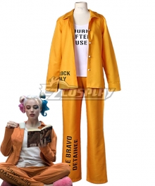 DC Suicide Squad Harley Quinn Prison Suit Cosplay Costume