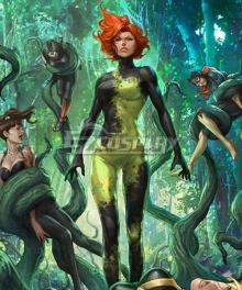 DC Comics Batman Poison Ivy Pamela Lillian Isley Cosplay Costume