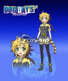 DOG DAYS'' Jaune Clafoutis Cosplay Costume
