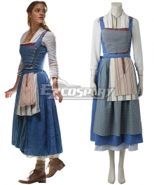Disney Beauty and The Beast Movie 2017 Belle Cosplay Costume - A Edition
